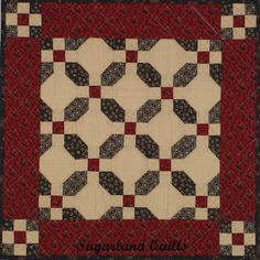 """Americana Patchwork  21"""" x 21""""...In red and green this would be a good Christmas topper."""
