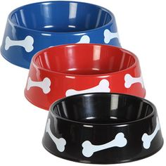 Pups will love these colorful bowls! Large, round, plastic bowls are great for food or water. Ideal for breeders, animal shelters, veterinary clinics, groomers, pet day care centers, and resale. Case