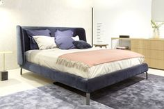 Glorious new Desdemone bed by Nasralleh & Horner for Ligne Roset. This cosseting piece will be available with a choice of back heights when it comes in-store Autumn 2016