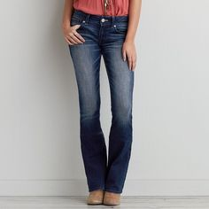 AEO Kick Boot Cut Jeans (33 CAD) ❤ liked on Polyvore featuring jeans, dark rinse, bootcut jeans, boot-cut jeans, american eagle outfitters, american eagle outfitters jeans and dark wash bootcut jeans