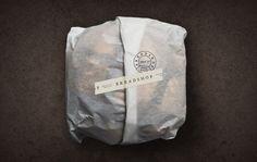 Scott Naauao's Breadshop Brand Identity Features Stamped Details #branding trendhunter.com
