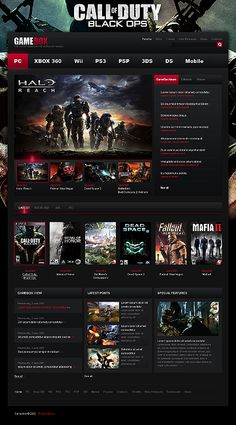 The 87 best gaming website images on pinterest website template 100 gaming website templates maxwellsz