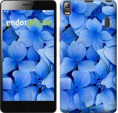 """Чехол для Lenovo A7000 """"Синие цветы"""""""