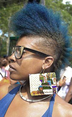 Blue Mohawk #afropunk