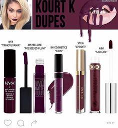 Kylie Lip Kit Kourt K Dupes I already own NYX Transylvania, so that's good to Know - LoveMsB.