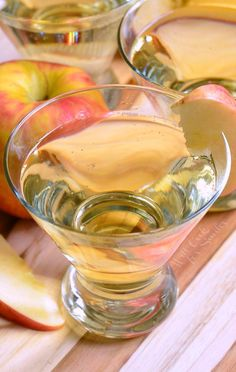 Delicious way to celebrate a special occasion of just a Friday night, bubbly champagne martini made with apple cinnamon flavors.