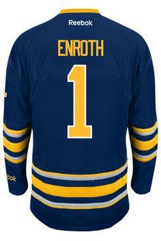 Buffalo Sabres Goalie Jonas ENROTH  1 Official Home Reebok Premier Replica  Adult CoolHockey 0ef0ee897