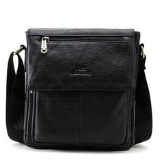 New Fashion Messenger Bag Men Genuine Leather Cross Body Casual Commercial Brief Leather Crossbody, Leather Bag, Crossbody Bag, Casual Bags, Men Casual, Ipad Bag, Messenger Bag Men, Briefcase, New Fashion
