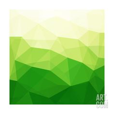 Abstract Green Triangle Background Print by epic44 at Art.com