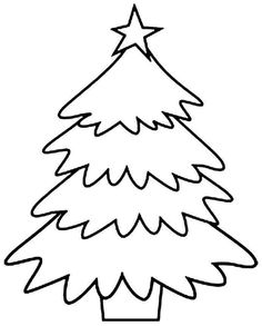 free printable christmas tree templates tree outline outlines and