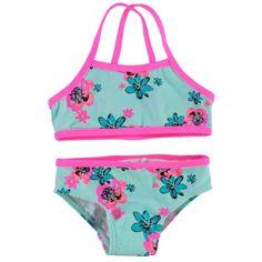 Niedlicher Bikini in angesagten Farben mit modischen Prints. #Mädchen #Bikini #Bademode #Kinderbekleidung