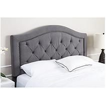 Abbyson Living Sullivan Tufted Grey Velvet Headboard, Full/Queen