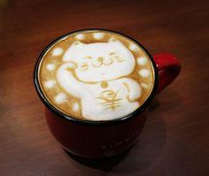 Cute Cat Coffee Latte Art