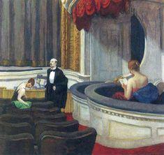 Edward Hopper — Two on the Aisle, 1927, Edward HopperMedium: oil,...