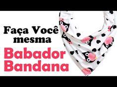 DIY- COMO FAZER O BABADOR BANDANA (MOLDE COMPLETO) - YouTube Scrub Hats, Bibs, Alexander Mcqueen Scarf, Youtube, Image, Rose, Fashion, Altering Clothes, Folding Clothes Rack