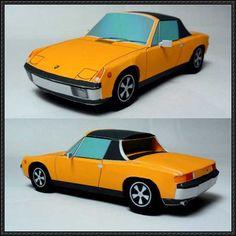 Porsche 914/6 Paper Car Free Vehicle Paper Model Download - http://www.papercraftsquare.com/porsche-9146-paper-car-free-vehicle-paper-model-download.html
