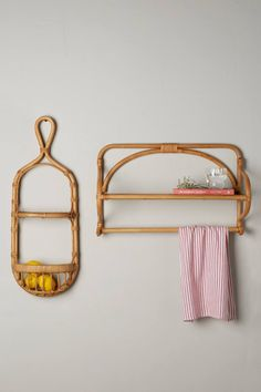 Slide View: 1: Wrapped Rattan Shelf