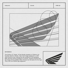 Honda Powersports Wing Logo Breakdown - World of Motor Logo Guidelines, Soichiro Honda, Logo Luxury, Logo Process, 2 Logo, Geometric Logo, Logo Concept, Concept Art, Technical Drawing