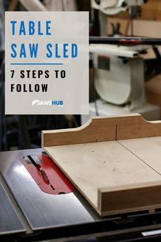 Learn how to make a table saw sled with this simple, step-by-step process and guide. We will show you how to make a sled for more accurate cross cuts along with angled miter cuts. Wood Shop Projects, Diy Furniture Projects, Woodworking Projects Diy, Art Projects, Table Saw Crosscut Sled, Table Saw Sled, Homemade Frames, Homemade Tables, Build A Table