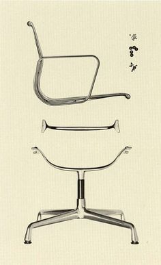 // Design by Charles and Ray Eames for Herman Miller