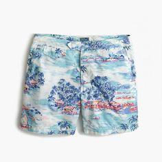 "J.Crew Father's Day Shop: men's 6.5"" tab swim short in tropical dawn print."