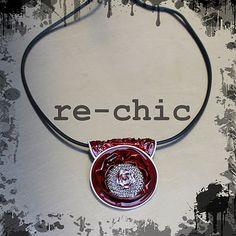 Handmade coffee pods necklace - Girocollo con capsule Nespresso e cordino in caucciù