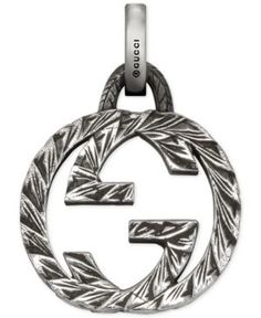 Gucci Men's Gucci Ghost Sterling Silver Interlocking G Charm YBG45528800100U - Silver