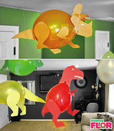 Dinosaur Crafts Kids, Dinosaur Theme Preschool, Girl Dinosaur Birthday, 4th Birthday, Birthday Parties, Early Childhood Activities, Birthday Party Decorations, First Birthdays, Creations
