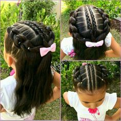 Baby Hairstyles Ideas – Baby and Toddler Clothing and Accesories Lil Girl Hairstyles, Cute Hairstyles For Kids, Natural Hairstyles For Kids, Princess Hairstyles, Pretty Hairstyles, Toddler Hairstyles, Beautiful Haircuts, Teenage Hairstyles, Little Girl Braids