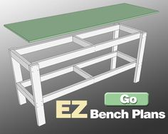 Garage work bench plans image of garage work bench workbenches for garages and shop workbench systems harbor freight homemade garage workbench ideas Workbench With Drawers, Workbench Top, Workbench Plans, Folding Workbench, Woodworking Bench Plans, Woodworking Projects, Woodworking Shop, Furniture Projects, Wood Projects