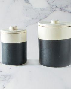 The Chalk Board & Ceramic Storage Jars by HomeMint.com, $69.99