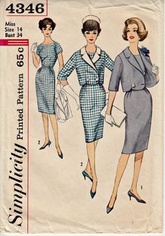 1960s Mad Men Office Suit Pattern SIMPLICITY by ShellMakeYouFlip