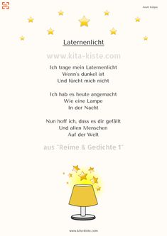 """Lantern poem for the # kindergarten - from """"Rhymes Poems - SHOP: www k Art Education Resources, Science Education, Teacher Resources, Montessori Kindergarten, Kindergarten Songs, Hl Martin, What Is Parenting, Skill Training, Kids Songs"""