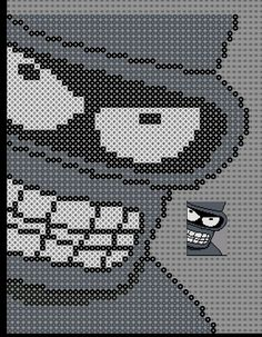 Bender Futurama Perler Bead Pattern by Sebastien Herpin