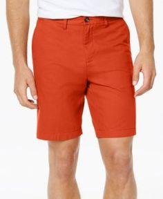 """Tommy Hilfiger Men's Shorts, 9"""" Inseam - Orange 36W"""