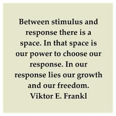 """In this space I have managed to stay free despite forces which called for a response that would result in my destruction."" Victor Frankl, as a brilliant psychologist, human rights activist & Jewish survivor of Holocaust atrocities came to understand this all too well."