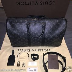 bf3fee903f8b Louis Vuitton Keepall 45 - Monogram Eclipse - Limited Edition Duffel  Luggage Bag