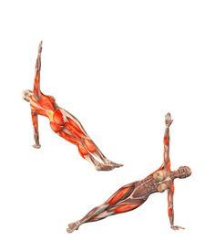 CROSSED Half side plank pose on left hand legs crossed Yoga Pilates, Yoga Moves, Kundalini Yoga, Yoga Meditation, Fitness Workouts, Yoga Fitness, Yoga Muscles, Power Yoga, Free Yoga Videos