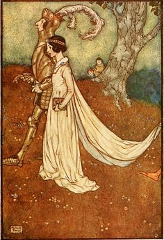 'The Making of the Opal' from book 'Fairies I Have Meet' by Maud Margaret Key Stawell.  Illustration by Edmund Dulac.
