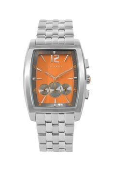 Ted Baker Watches Men's Orange Stainless Steel Watch
