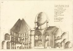 Cross-Section of the Church of the Holy Sepulchre | Jacques Callot, Cross-Section of the Church of the Holy Sepulchre (1619)