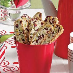 Easy Christmas Cookies: Cranberry-Pistachio Biscotti