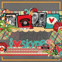 I Heart Skype - Scrapbook.com