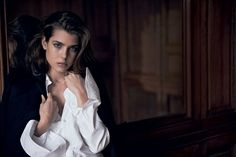 Charlotte Casiraghi, photographed in Paris.