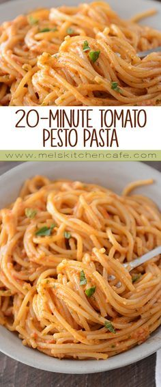 Jul 2017 - With a fresh pop of tomato basil flavor, this tomato pesto pasta is incredibly delicious and a total crowd pleaser. Vegetarian Recipes, Cooking Recipes, Healthy Recipes, Tomato Pesto, Mets, I Love Food, Pasta Dishes, Italian Recipes, Italian Foods
