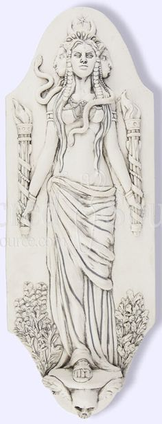 - Celtic Goddess Hekate Hecate Plaque by Jeff Cullen #HK