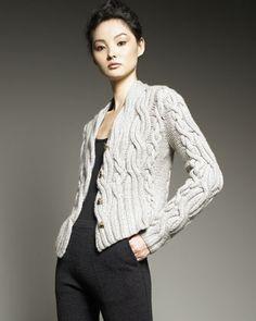 TSE Cashmere Cable-Knit Cashmere Cardigan - Bergdorf Goodman