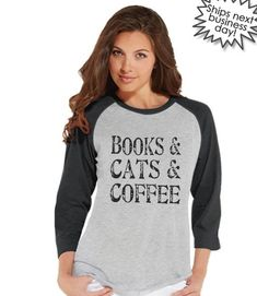 54c4cd1dd757f Cat Shirt - Cat Lover Gift - Funny Shirt - Books