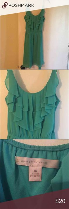✨LC LAUREN CONRAD DRESS✨ Size Medium! Never been worn, was given as a gift & when I went to wear it, it was a little too short for my legs. It's a turquoise dress, it's absolutely beautiful. LC Lauren Conrad Dresses Mini