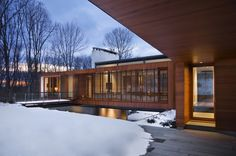 Exterior. Bridge House, by Joeb Moore + Partners Architects. Kent, Connecticut.